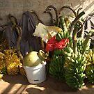 Bunches of Bananas Hanuman Temple by SerenaB