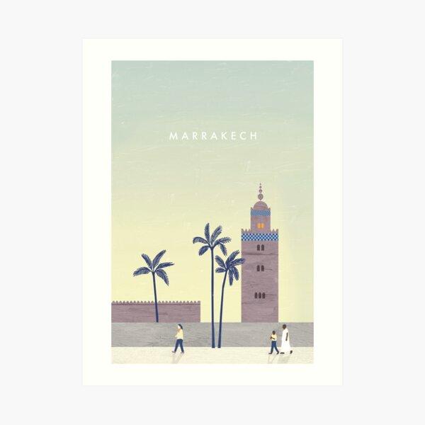 Marrakesch Travel Poster Kunstdruck