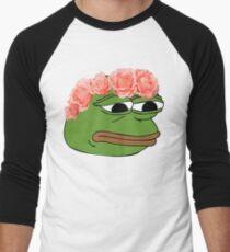 Camiseta ¾ bicolor para hombre Flor corona pepe rana