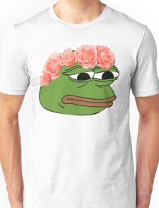 Flower Crown Pepe Frog Unisex T-Shirt