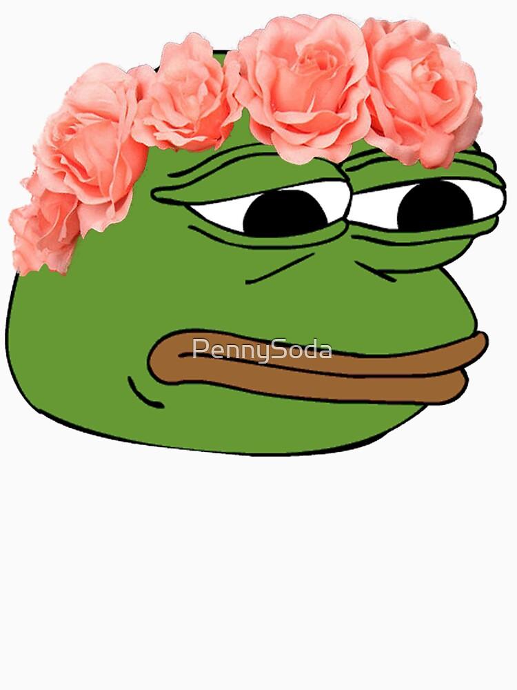Flower Crown Pepe Frog | Unisex T-Shirt