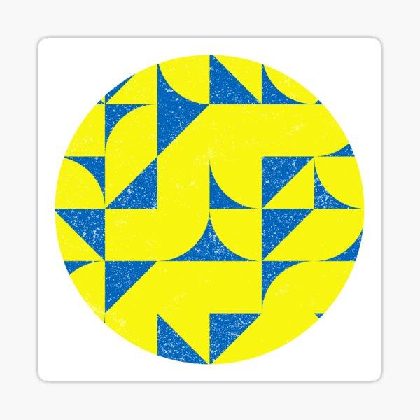 Blue & Yellow Geometric Pattern Sticker