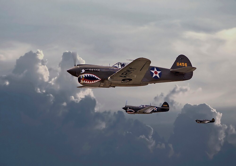 Quot P40 Flying Tigers Quot By Pat Speirs Redbubble
