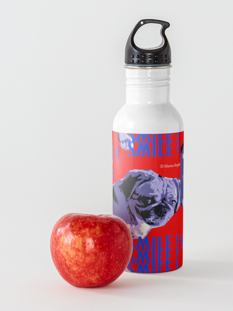 Alternate view of Smile - What Are You Waiting For? Pugalier Pug  Water Bottle