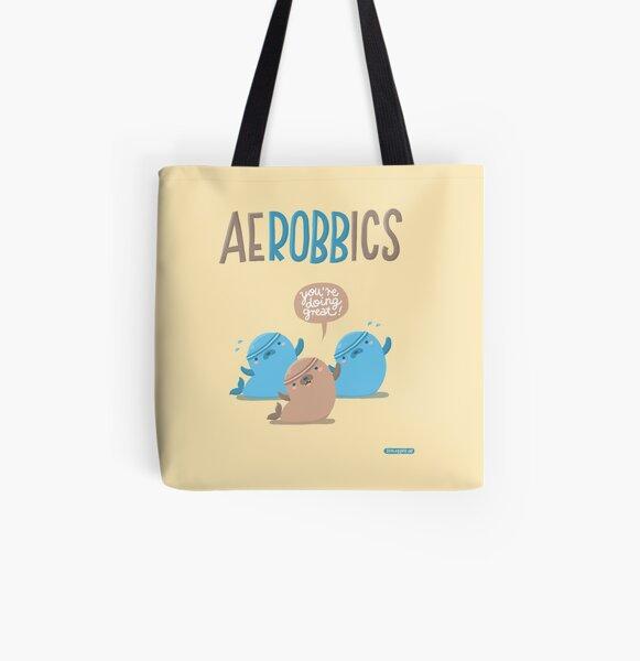Aerobbics - Sporty Seals All Over Print Tote Bag