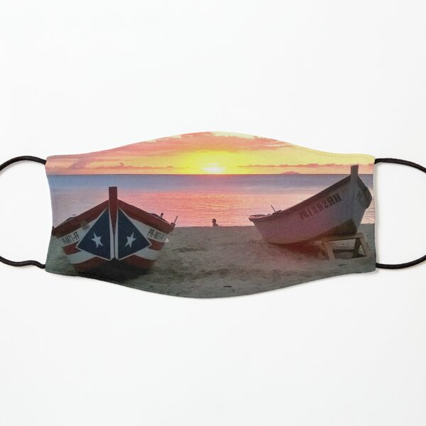 Crashboat Beach Aguadilla Puerto Rico Sunset Kids Mask