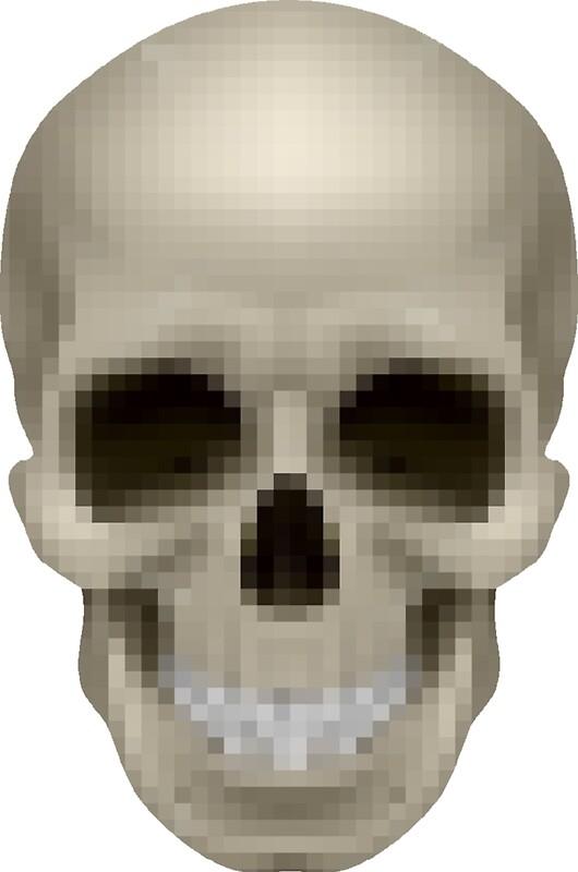 Pixelated skull