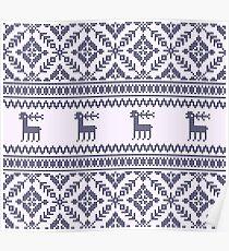 Knit pattern Poster