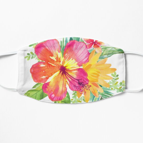 Tropical Colorful Flowers Mask