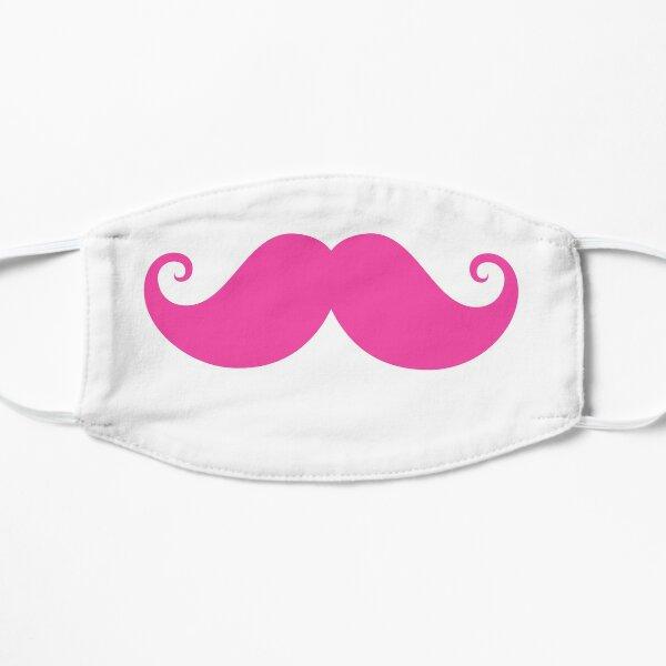 Hot pink handlebar mustache Flat Mask