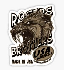 wolf usa warriors by rogers bros Sticker