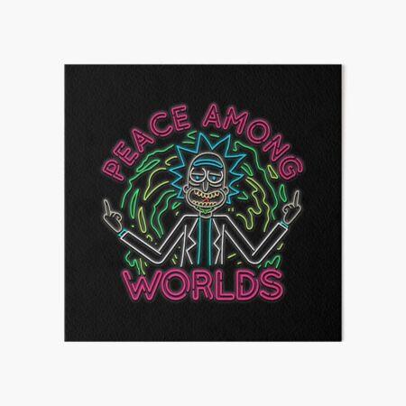 Peace Among Worlds neon Art Board Print