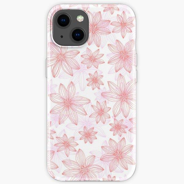 Linework Flowers iPhone Soft Case