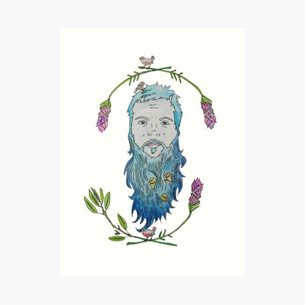 Beard Birds Art Print