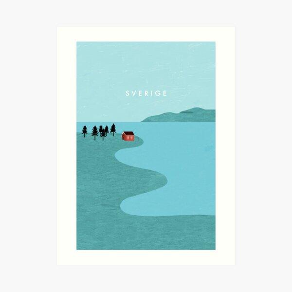 Affiche de voyage en Suède Impression artistique