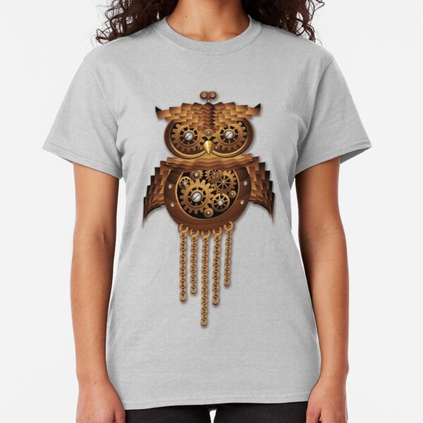 Owl Steampunk Vintage Style Classic T-Shirt