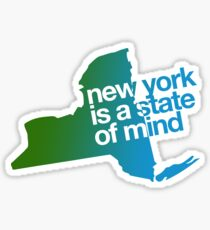 New York is a state of mind - Green/blue Sticker