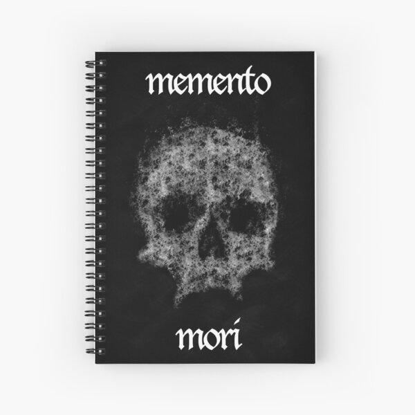 Memento mori skull by Brian Vegas Spiral Notebook