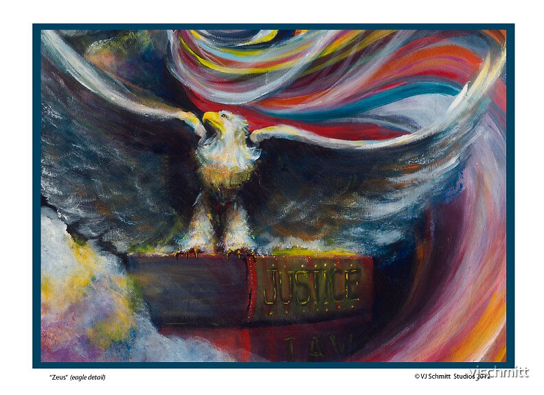 Eagle detail from Zeus by vjschmitt