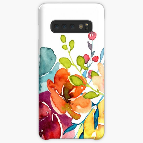 Bright Flowers Summer Watercolor Peonies Samsung Galaxy Snap Case