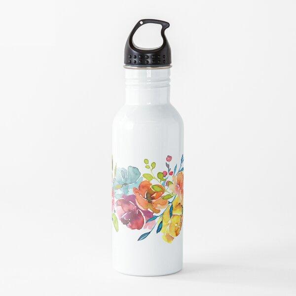 Helle Blumen Sommer Aquarell Pfingstrosen Trinkflasche