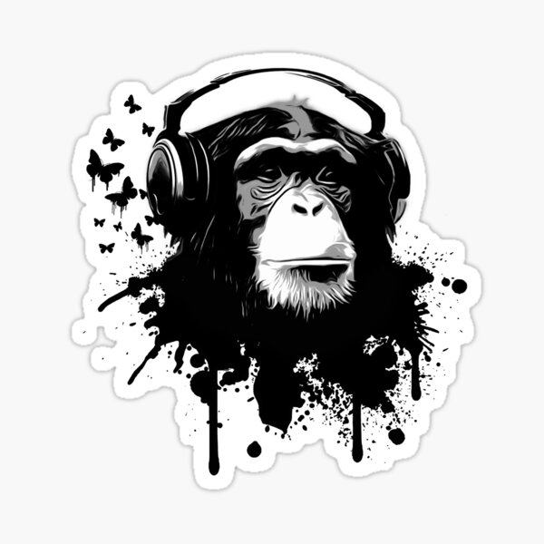 Monkey Business Sticker