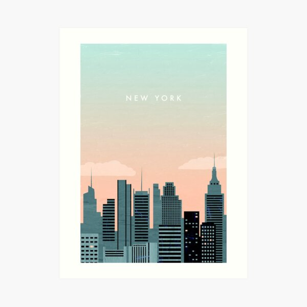New York Travel Poster Kunstdruck