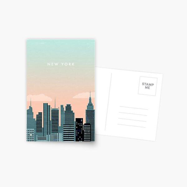 New York Travel Poster Postcard