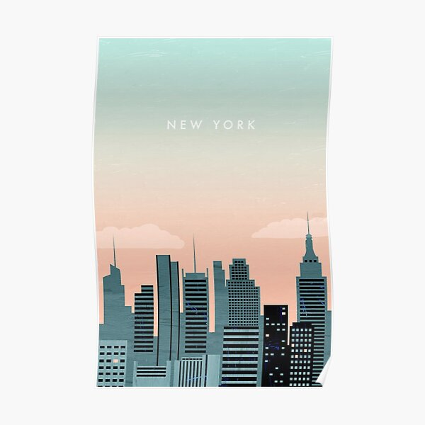 New York Travel Poster Poster