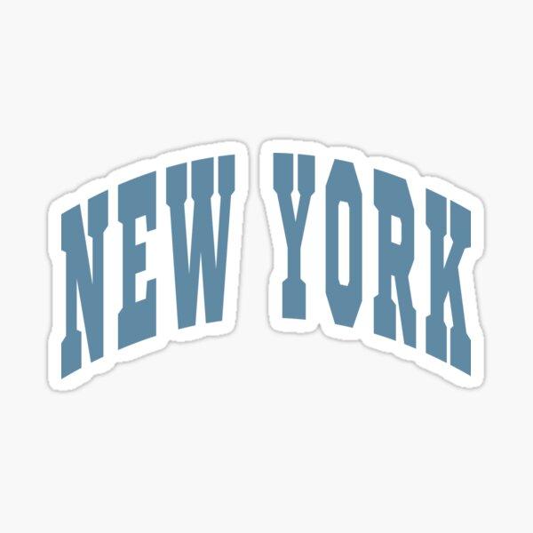 New York Varsity Lettering Design Sticker