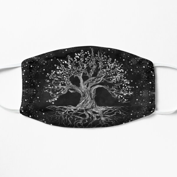 Tree of Life Drawing Black and White Mask