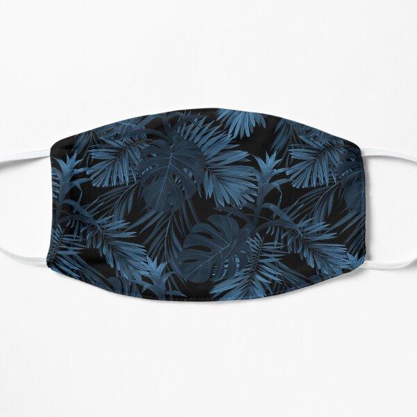 Dark indigo tropical Flat Mask