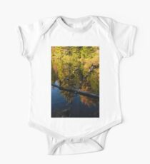 Fall Mirror - Mesmerizing Forest Lake Reflections Kids Clothes