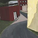 Curved Street by the Tracks by Sarah Countiss
