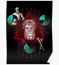 Geometric Gods Poster