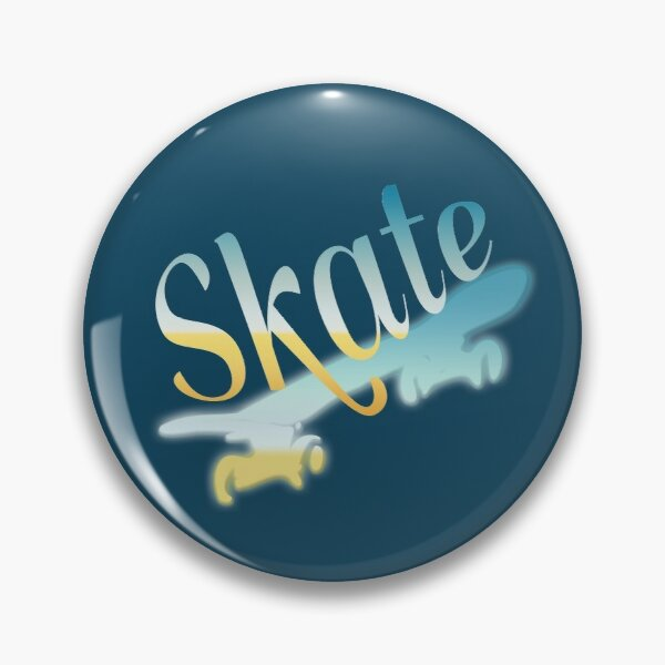 Bright Skateboarding Skater Pin