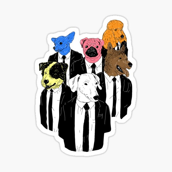 Real Reservoir Dogs sticker Sticker