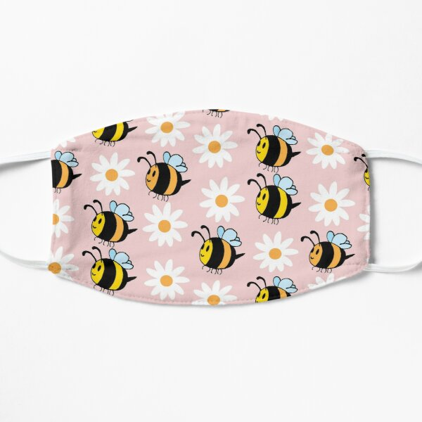 Chubby Bees With Daisies  Mask