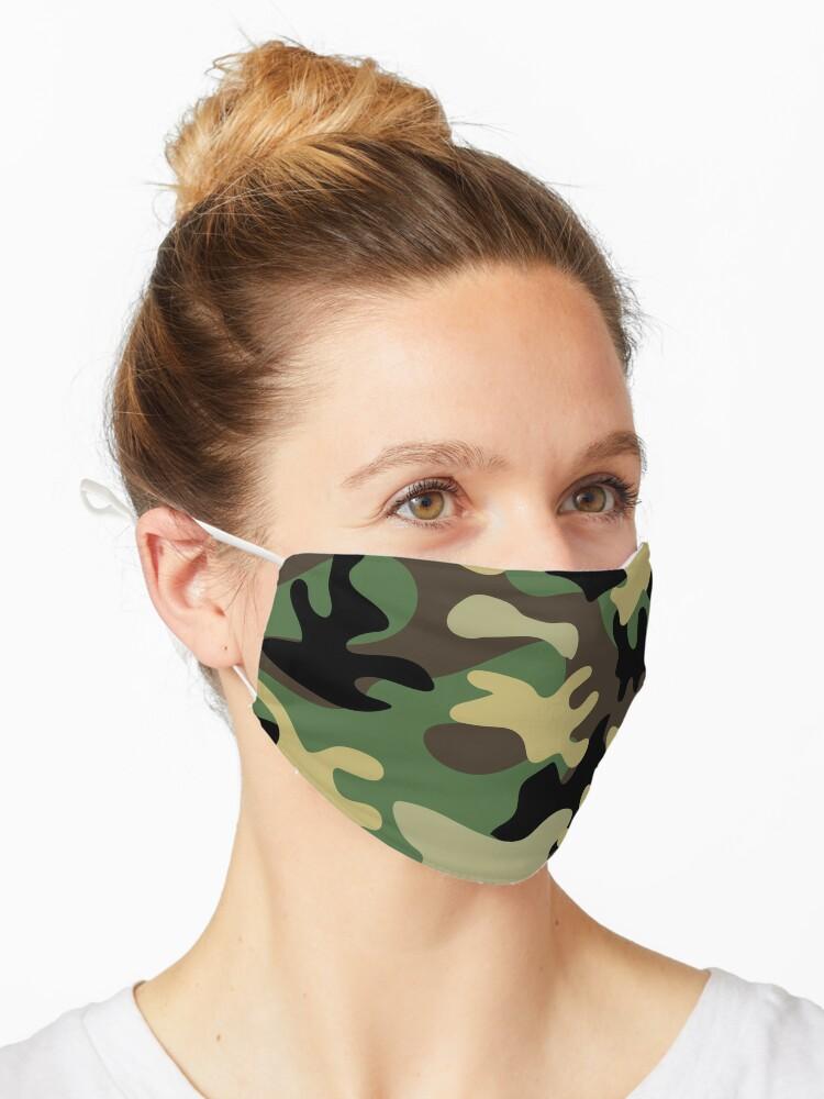 Militar Camo Nahtloses Muster Vektorhintergrund