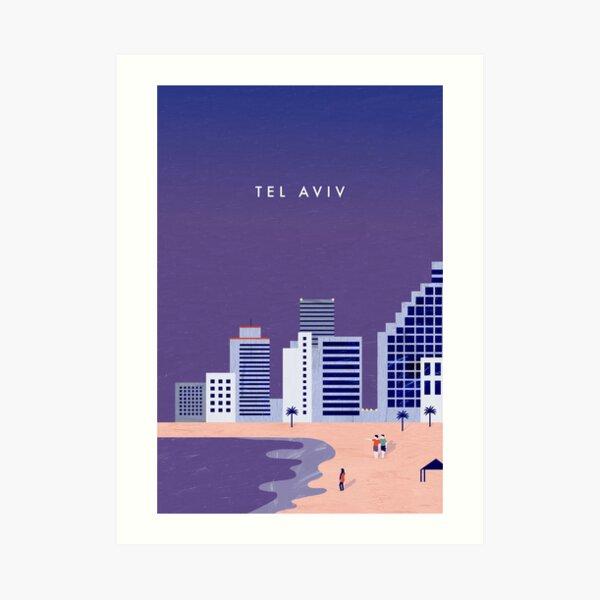 Tel Aviv Travel Poster Kunstdruck