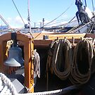 Ropes on Tall Ship by Sandra Lee Woods