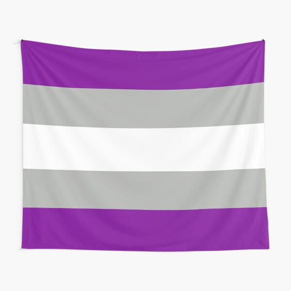 grey-asexuality flag Tapestry