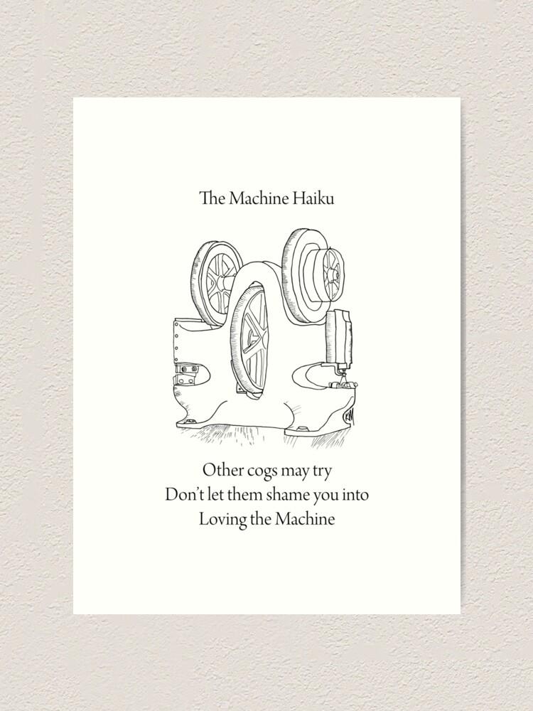 Impression artistique ''La machine Haiku': autre vue
