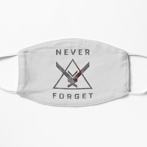 Never Forget - Halo: Reach Noble Team Themed Design Flat Mask