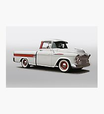 1957 Chevrolet 3124 Cameo Pickup Photographic Print