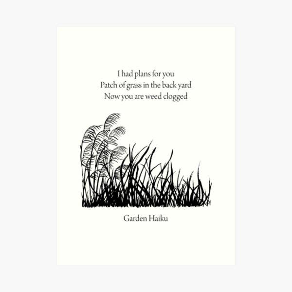 Garden Haiku Art Print