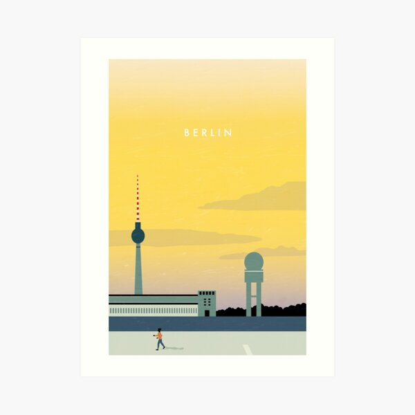Berlin Travel Poster Kunstdruck