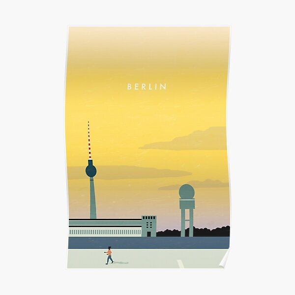 Berlin travel poster Poster
