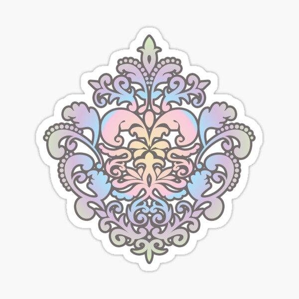 Pastel Damask Pattern Sticker