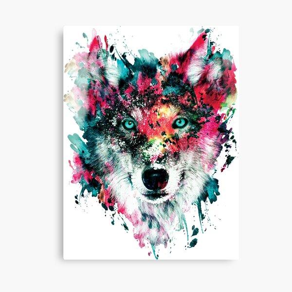 Wolf II Leinwanddruck